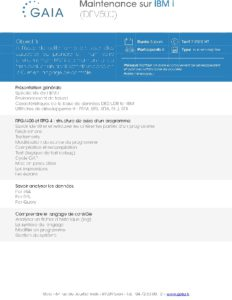 Icon of DEV500 Maintenance Sur IBM I
