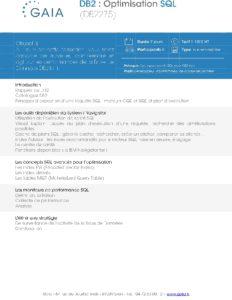 Icon of DB2275 DB2 Optimisation SQL