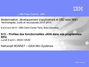 Icon of S12-Profitez Des Fonctionnalites De JAVA Dans Vos Programmes RPG