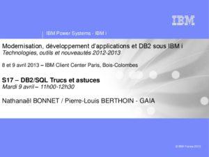 Icon of S17-DB2-SQL Trucs Et Astuces