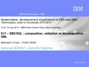 Icon of S17 DB2-SQL Composition Validation Et Decomposition XML