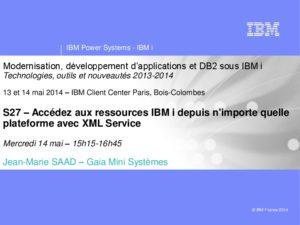 Icon of S27 Acceder Aux Ressources IBM I Avec XMLService