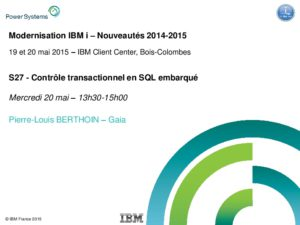 Icon of S27 - Controle Transactionnel En SQL Embarque