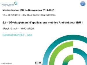 Icon of S2 - Developpement Dapplications Mobiles Android Pour IBM I