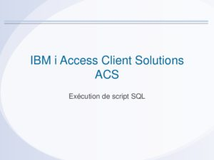 Icon of ACS 8 Execution Script SQL