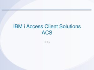 Icon of ACS 10 IFS