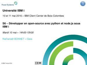Icon of S6-Developper-en-open-source-avec-python-et-node Js-sous-IBM-i