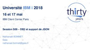 Icon of S09 - DB2 Et Support De JSON